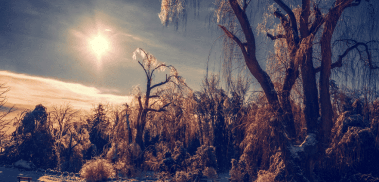 Ensoleillement en hiver pour choisir l'inclinaison et l'orientation des panneaux solaires